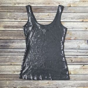 💲🎁 Express Charcoal Gray Sequin Tank Top